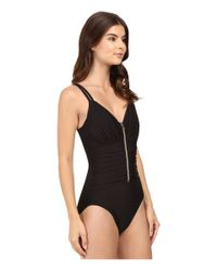 Miraclesuit - Black Solid Razor One-piece - Lyst