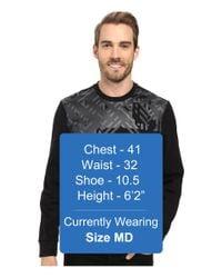 Calvin Klein - Black Long Sleeve Geo Camo Print Ponte Shirt for Men - Lyst