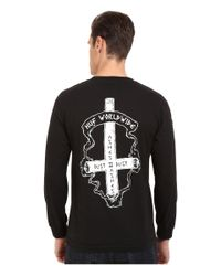 Huf - Black Ashes To Ashes Long Sleeve Tee for Men - Lyst