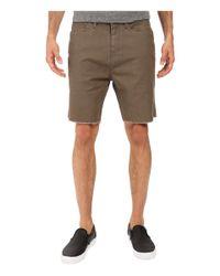 Volcom Multicolor Wolverton Raw Hem Shorts for men