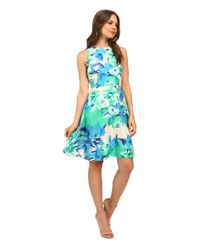 Donna Morgan | Black Floral Sleeveless Fit-and-flare Dress | Lyst