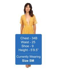 Brigitte Bailey Yellow Joana Lace Maxi Dress