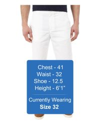 Calvin Klein - White Classic Fit Twill Walking Short for Men - Lyst
