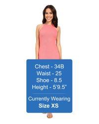 Michael Stars | Pink 2x1 Rib Tami Tank Dress | Lyst