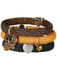 Marc Jacobs - Metallic Hair Charms Owl Cluster Pony - Lyst
