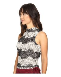 Kensie | Black Two-tone Embroidered Lace Top Ks9k4232 | Lyst