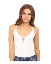 Free People | White The Cross Fire Lace-up Cami | Lyst