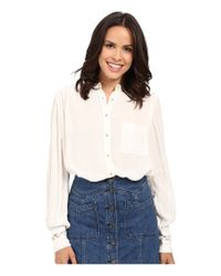 Free People   Blue The Best Button Down   Lyst