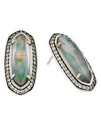 Kendra Scott - Blue Aston Earrings - Lyst