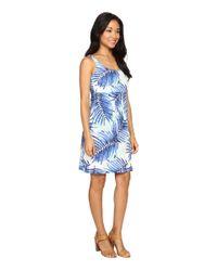 Tommy Bahama Blue Palm Party Short Dress