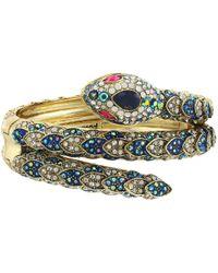 Betsey Johnson - Blue Snake Cuff Bracelet - Lyst
