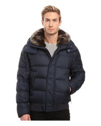 Marc New York | Brown Rockingham Down Bomber W/ Removable Faux Fur Collar & Hood for Men | Lyst