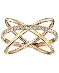 Michael Kors | Metallic Brilliance Criss Cross Ring | Lyst