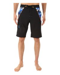 Rainforest - Blue Avatar Splice Boardshorts In Stretch Oxford for Men - Lyst