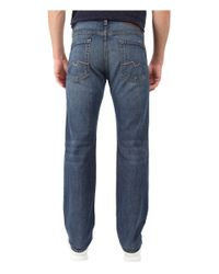 7 For All Mankind Blue Standard Straight Leg In Tacoma Hills for men