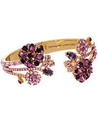 kate spade new york | Multicolor Trellis Blooms Open Hinge Cuff Bracelet | Lyst