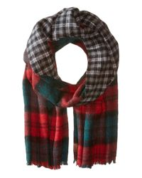 Pendleton - Red Double-face Scarf - Lyst