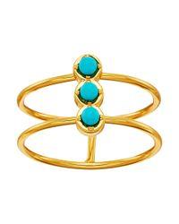 Gorjana - Blue Mirrah Double Bar Ring - Lyst
