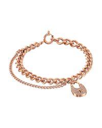 Michael Kors | Multicolor Curb Padlock Bracelet | Lyst