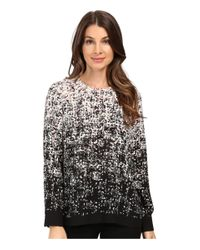 Vince Camuto | Multicolor Long Sleeve Shadow Textures Blouse | Lyst