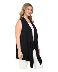 MICHAEL Michael Kors   Black Plus Size Drape Front Vest   Lyst