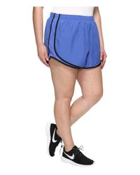 """Nike   Blue Dry Tempo 3"""" Running Short (size 1x-3x)   Lyst"""