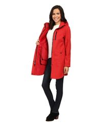 Pendleton Red Hooded Zip Front Coat