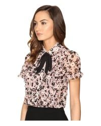 kate spade new york | Multicolor Posy Grove Chiffon Shirt | Lyst