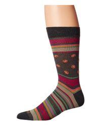 Etro   Red Bold Striped Socks for Men   Lyst