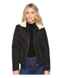 Brigitte Bailey Black Solo Jacket W/ Sherpa Lined Collar
