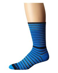Wrightsock | Blue Cool Mesh Striped Crew Single Pack for Men | Lyst