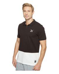 PUMA - Black Archive Logo Polo for Men - Lyst