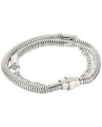 French Connection | Metallic Chain Mix Double Wrap Bracelet | Lyst