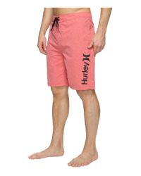 """Hurley Red One & Only Heather 2.0 Boardshorts 21"""" for men"""