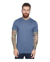 Volcom | Blue Heather Solid T-shirt for Men | Lyst