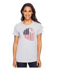 "Carhartt | Gray Lubbock Graphic American Branded ""c"" Short Sleeve Shirt | Lyst"