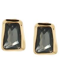 Robert Lee Morris | Black Diamond & Gold Stone Stud Earrings | Lyst