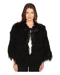 Lamarque | Black Hisa Mongolian Shearling Jacket | Lyst