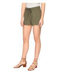 Jack BB Dakota - Green Marlin Rayon Twill Drawstring Shorts - Lyst