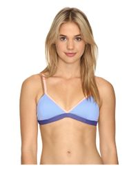 Maaji | Blue Lavender Cocktail Fixed Triangle Top W/ Soft Cups | Lyst
