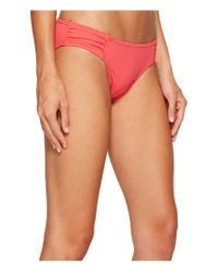 Tommy Bahama Pink Pearl Side-shirred Hipster Bikini Bottom