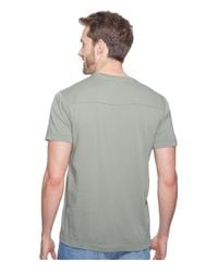 Agave Gray Agave Supima Crew Neck Short Sleeve Tee for men