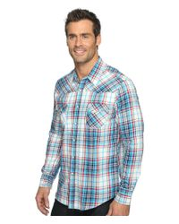 Rock And Roll Cowboy - Blue Long Sleeve Snap B2s9058 for Men - Lyst