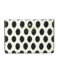 kate spade new york | Black Harding Street Ikat Dot Card Holder | Lyst