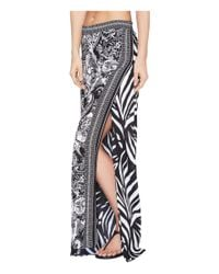 La Blanca - Black Sevilla Scarf Lounge Pant Cover-up - Lyst