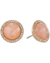 Fossil | Multicolor Pink Stone Studs Earrings | Lyst