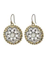 Lucky Brand - Metallic Floral Drop Earrings - Lyst