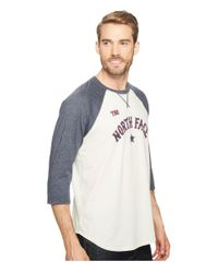 The North Face Blue 3/4 Americana Baseball Tee for men