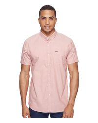Rip Curl | Red Ourtime Short Sleeve Shirt for Men | Lyst