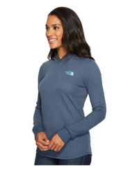 The North Face Blue Long Sleeve Waffle Knit Tee